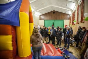 Bouncy Castle at the 2015 Christmas Grotto Event at the Ile Youth & Community Centre