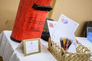 Father Christmas' postbox at the 2015 Christmas Grotto Event at the Ile Youth & Community Centre